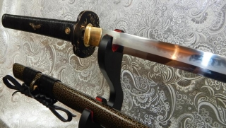 Munenori Gold and Black Choji Hamon Katana